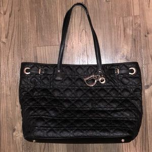 👜❤️ CHRISTIAN DIOR Black Canvas / Leather Tote!!